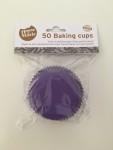 HoM Cupcake/Muffin Förmchen, Purple, 50Stk.