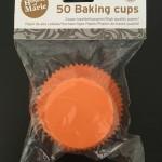 HoM Cupcake/Muffin Förmchen, Orange, 50Stk.